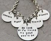 Personalized I ll Love you Forever Bracelet - As Long As I'm Living- New Mom - Miscarriage - Charm Bracelet - Gift for Mom - Stillborn