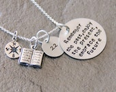 Library Teacher Gift - Librarian Gift - Book Necklace -Time To Read- Sterling Silver -  Library Necklace- Book Charm- Read- Reading Teacher