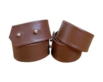 DOUBLE WRAP LEATHER Cuff Minimalist leather bracelet Double Wrap Reddish Brown leather cuff Soft leather cuff Double stacking bracelets