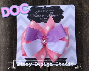 Doc McStuffins Inspired Hair Bow
