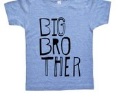 Big Brother Shirt - Boys Top - Sketchy Big Bro Kids Shirt - Boys Clothing For Baby and Toddler and Youth - Kids Clothes Trendy Brother Shirt