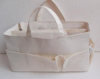 Diaper Purse organizer for Louis Vuitton Neverfull GM - Bag organizer insert in Cream