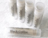 Black Coffee Lip Butter -  Herbal Lip Balm, Pure Coffee Eessential Oil, 100% Natural