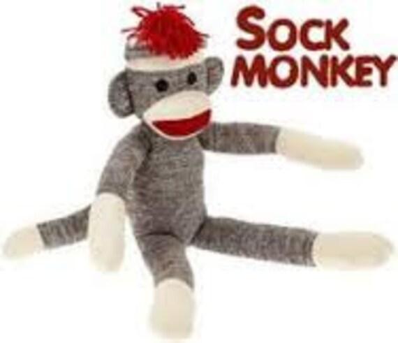 the vintage umbrella: Sock Monkey Hat - blogspotcom