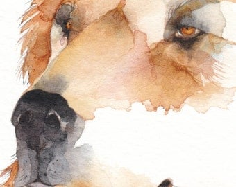 BEAR ACEO watercolor PRINT 'Brother Bear' Native American spirit totem animal - Free Shipping