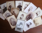 Collection of  Antique 19th Century Family Photographs - Paper Ephemera - Crafting Collage