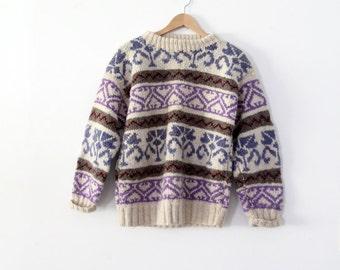 vintage wool fair isle sweater