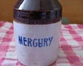 Vintage #1 Mercury Flask Stoneware Jug.