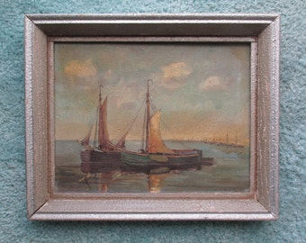 REDUCED! 1940s signed oil painting by Willy Fasse on masonite board, the Netherlands