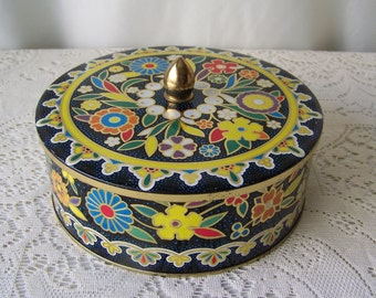Vintage Daher Tin Bohemian Inspired Kitchen Tin Collectible Tin Kitchen Decor 1970s