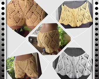 Handmade Crochet pineapple short made from stretch yarn