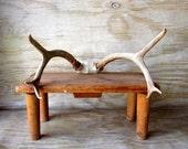Primitive Handmade Bench Fall Decor