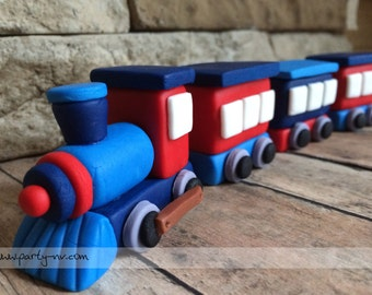 EDIBLE (Fondant Topper) - Choo Choo Train