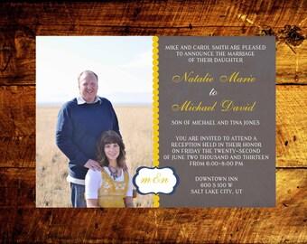 photo wedding invitations, modern wedding invitations, wedding invitations, wedding invites, rustic wedding invitations