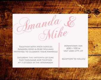wedding announcement, modern wedding invitations, wedding invitations, wedding invites, unique wedding invitations