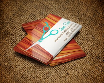 Customizable Hair Stylist Business Cards |  25-1000 Quanities