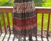 Vintage Hippie Woodstock Drawstring Gauze Skirt