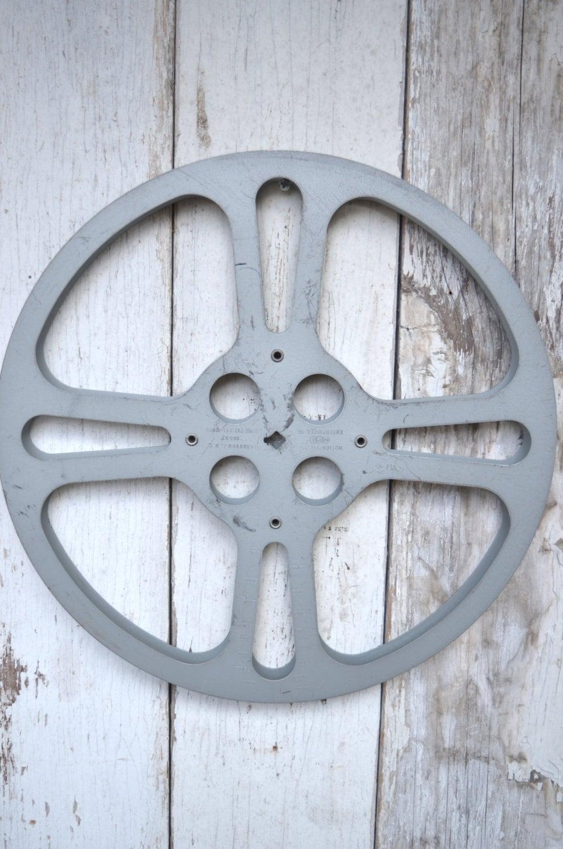 film reel 14 reel movie reel antique vintage 16 mm