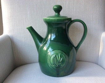 Ernest Sohn Green Butter Mold -Red Wing Pottery Pitcher