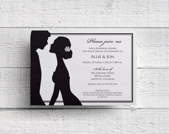 Bride and Groom Wedding Rehearsal Dinner Invitation, Invitation Printable, Rehearsal Invite, Welcome Dinner, Prewedding Dinner, Template