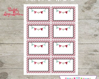 INSTANT DOWNLOAD - Large Buffet Labels - Red Wagon Printable