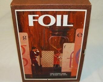 Foil - Challenging Game of Words & Wit - Bookshelf Board Game 3M - Vintage 1968