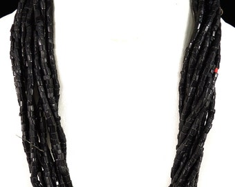 Baule Necklace 11 Strands Seed Trade Beads African 87684