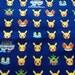 Half price Pocket Monsters printed fabric Pokemon blue colour One yard