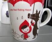 Vintage Decole Otogicco Japanese Kawaii Cute Kitsch Little Red Riding Hood Woodland Coffee Tea Mug