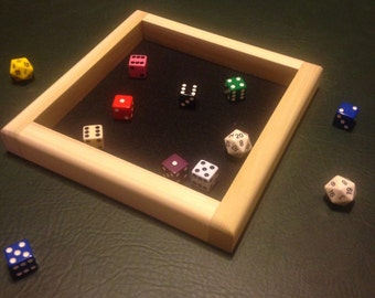 Square Wooden Game/Dice Tray