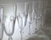 Set of 6 Cristal D'Arques Champagne Flutes - Washington Pattern