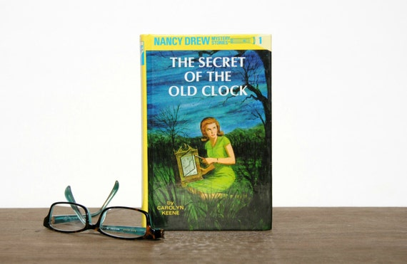 Kindle Paperwhite Old Book Cover : Nancy drew the secret of old clock custom by pagesandprose