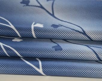 Vintage Blue Fabric Polyester 3/4 yard