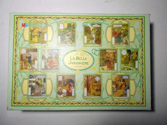 vintage 6000 piece puzzle la belle jardiniere art nouveau 1896. Black Bedroom Furniture Sets. Home Design Ideas