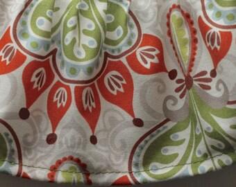 Autumn Serenade Moda Fabric Cuff- Fancy Ruffled Rubber Gloves - Cleaning Gloves - Dishwashing Gloves