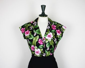 Cotton Hawaii Blouse 40s style *Ready Made*