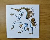 Unicorn greetings card unicorn birthday card
