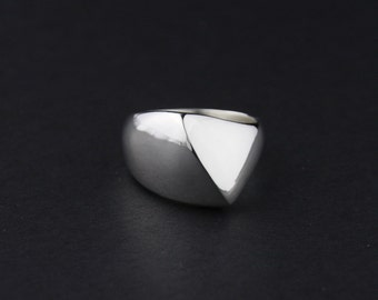 Peaked Wave Ring: Sterling Silver