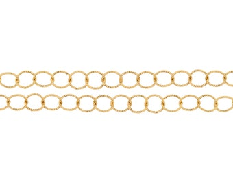 14Kt Gold Filled 3.4mm Twisted Circle Chain - 20ft (2310-20)/1