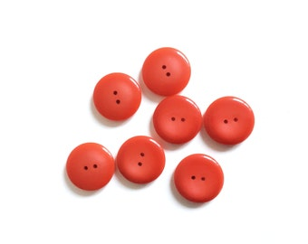 7 Red Buttons, Vintage