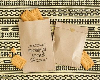 Wedding Treat Bag - Paper Wedding Favor Bag - Welcome Bag Stuffer - Midnight Snack Treat Bag - Wedding Favors - Party Favor bags