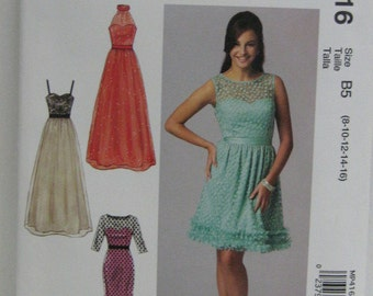 Party, Prom or Bridesmaid's Dress Pattern, Create It Mix and Match Pattern Pieces, Mc Call's MP 416, SZ 8 through 16