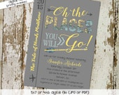 oh the places you will go invitation map baby shower once upon a time book cover world travel bash (item 1297) shabby chic around the world