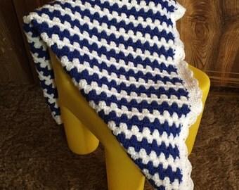 Granny Stripe Chevron Baby Blanket