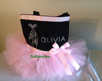 Light Pink Rhinestone Tutu Tote Bag