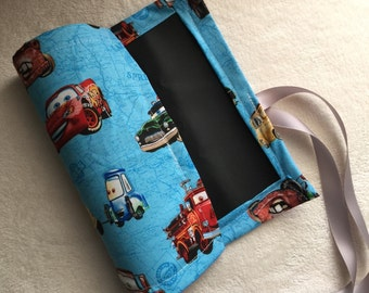 CARS the movie Chalkboard Mat Roll with chalk holder for Kids Travel Activities and Games 9 x 12 Boys Disney McQueen Mater car truck