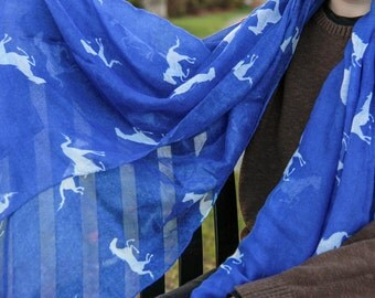 Horse Scarf- Blue