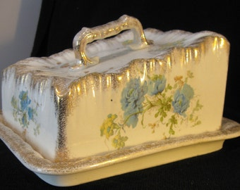 Antique Covered Cake Dish