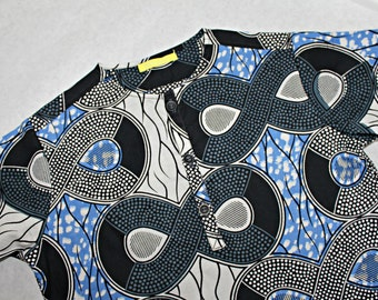 African 100% cotton Print boys grandad shirt