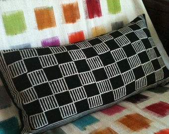 Checkerboard Black and White Cotton Pillowcase